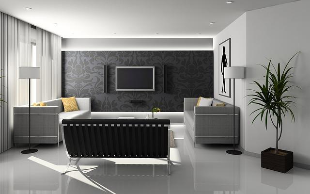 čistý interiérový styl